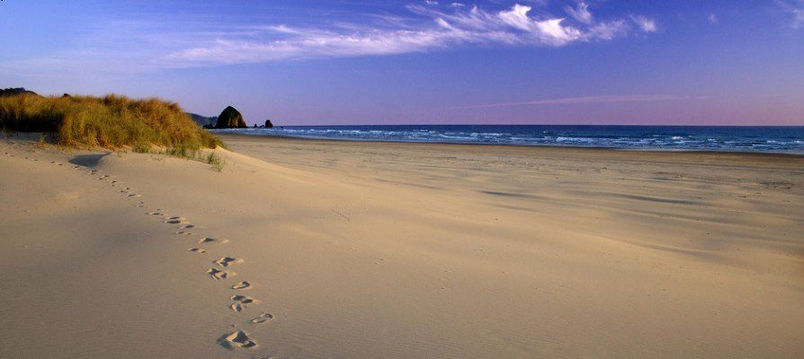 Footprints on the Beach,