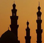 A general view of mosques during sunset in Old Cairo